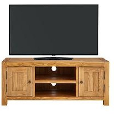 Luxe Collection - Grantham 100% Solid Oak Ready Assembled Tv Unit - Fits Up To 55 Inch Tv