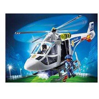 Playmobil Playmobil 6921 City Action Police Helicopter With Led Searchlight