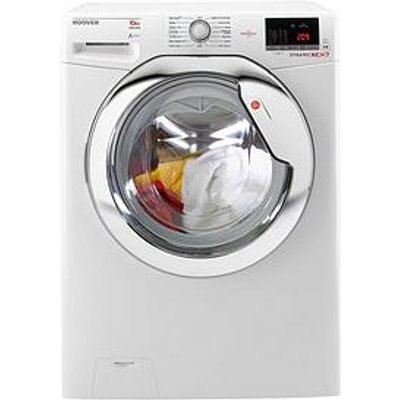 Hoover Dynamic Next Dxoa610Hcw 10Kg Load, 1600 Spin Washing Machine With One Touch - White/Chrome