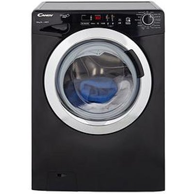 Candy Grand'O Vita Gvs1410Dc3B 10Kg Load, 1400 Spin Washing Machine With Smart Touch - Black/Chrome