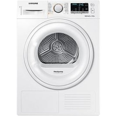 Samsung Dv80M50101W/Eu 8Kg Load Tumble Dryer With Heat Pump Technology - White