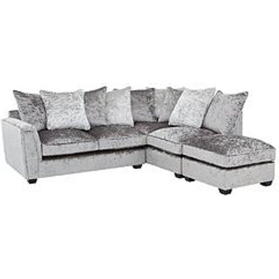 Glitz Right-Hand Fabric Corner Chaise Sofa