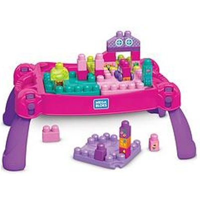 Mega Bloks Build 'N Learn Table - Pink