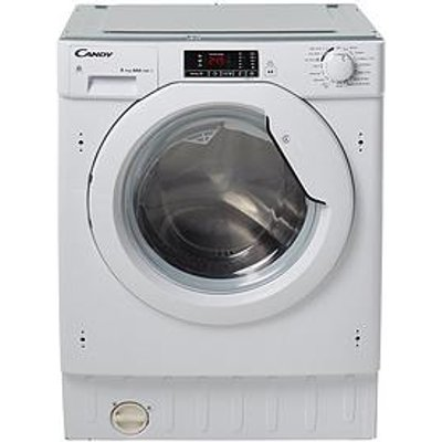 Candy Cbwd8514D 8Kg Wash, 5Kg Dry, 1400 Spin Fully Integrated Washer Dryer - White - Washer Dryer Only