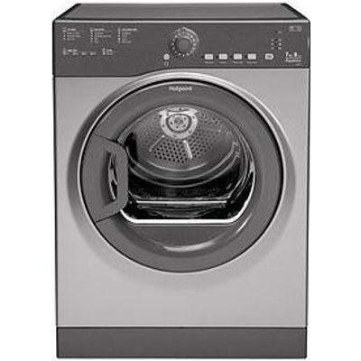 Hotpoint Aquarius Tvfs73Bgg.9 7Kg Vented Sensor Tumble Dryer - Graphite