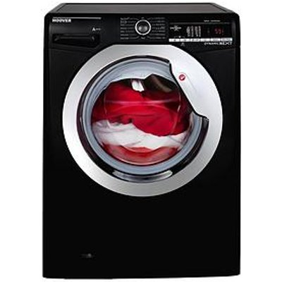 Hoover Dynamic Next Dxoa49C3B 9Kg Load 1400 Spin Washing Machine With One Touch - Black/Chrome