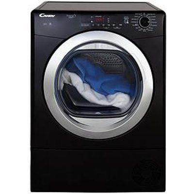 Candy Grand'O Vita Gvs C9Dcgb 9Kg Load Condenser Sensor Tumble Dryer With Smart Touch - Black/Chrome