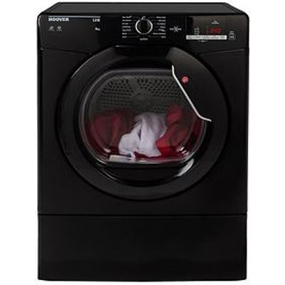 Hoover Link Hlv9Dgb 9Kg Load, Vented Sensor Tumble Dryer With One Touch - Black