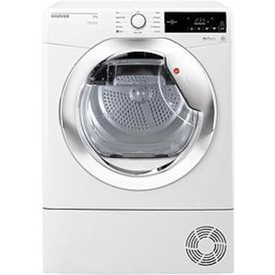 Hoover Dynamic Next Dxc9Tce 9Kg Load, Aquavision Condenser Tumble Dryer With One Touch - White/Chrome