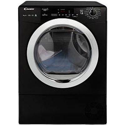 Candy Grand O Vita Gvsh9A2Dceb 9Kg Load, Heat Pump, Sensor Tumble Dryer With Smart Touch - Black/Chrome
