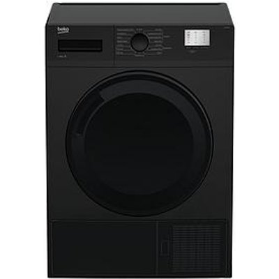 Beko Dtgc8000B 8Kg Load, Full Size Condenser Sensor Tumble Dryer - Black
