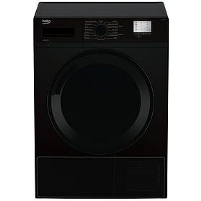 Beko Dtgc7000B 7Kg Load, Full Size Condenser Sensor Dryer - Black