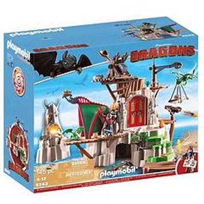Playmobil 9243 Dreamworks Dragons&Copy; Berk Island Fortress With Firing Cannons