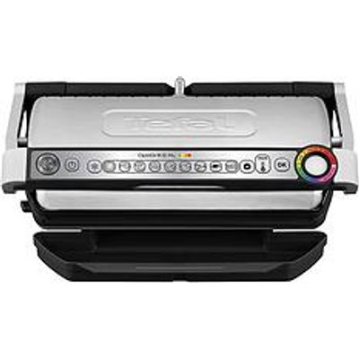Tefal Gc722D40 Optigrill+ Xl Health Grill, 9 Automatic Settings And Cooking Sensor - Stainless Steel