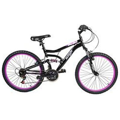 Muddyfox Inca Dual Suspension Girls Mountain Bike 24 Inch Wheel
