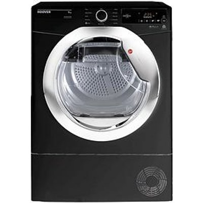 Hoover Dynamic Next Dxc9Tceb 9Kg Load Aquavision Condenser Tumble Dryer With One Touch - Black/Chrome