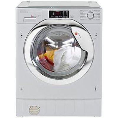 Hoover Hbwm914Dc 9Kg Load, 1400 Spin Integrated Washing Machine  - Washing Machine Only
