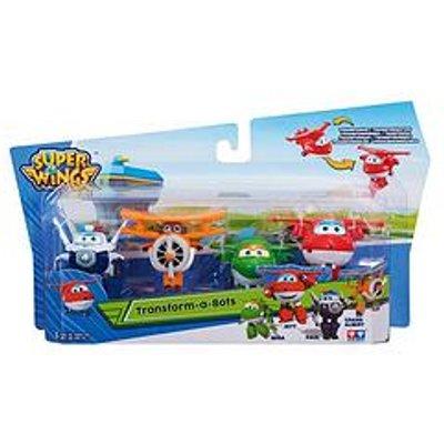 Super Wings Super Wings Transform-A-Bots - Jett, Mira, Paul &Amp; Grand Albert
