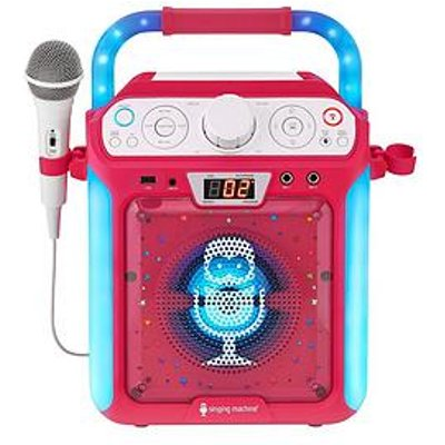 The Singing Machine Sml682Btp Bluetooth Cdg + Tablet Karaoke Machine - Pink
