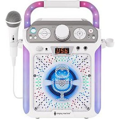 The Singing Machine Sml682Btw Bluetooth Cdg + Tablet Karaoke Machine - White