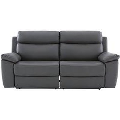 Edison 3-Seater Luxury Faux Leather Manual Recliner Sofa