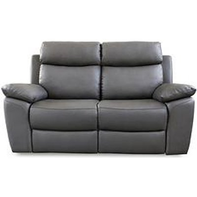 Edison 2-Seater Luxury Faux Leather Manual Recliner Sofa