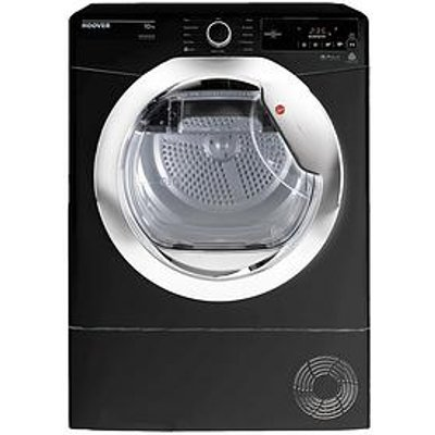 Hoover Dynamic Next Dwoad610Ahf7G-80 10Kg Aquavision Condenser Tumble Dryer With One Touch - Black/Chrome