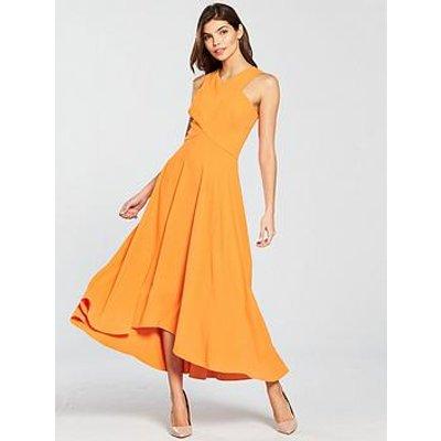 Karen Millen Colourful Midi Day Dress - Orange