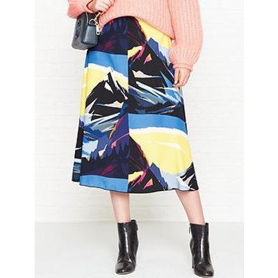 Sportmax Code Marina Printed A Line Midi Skirt - Multicolour