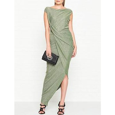 Vivienne Westwood Anglomania Vian Jersey Drape Dress - Green