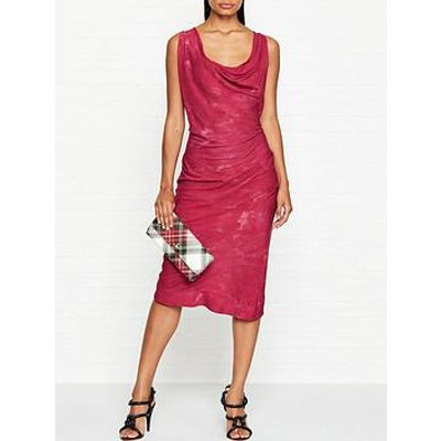 Vivienne Westwood Anglomania Virginia Cowl Neck Dress - Red