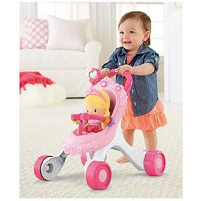 Fisher-Price Princess Chime Doll &Amp; Stroller Gift Set