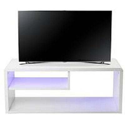 Newton High Gloss Tv Unit With Led Lights - Fits Up To 42 Inch Tv