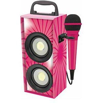 Lexibook Mini Bluetooth Karaoke Tower With Microphone - Pink