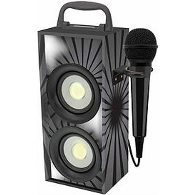 Lexibook Mini Bluetooth Karaoke Tower With Microphone - Black