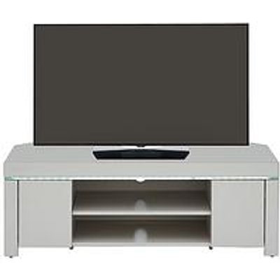 Atlantic High Gloss Corner Tv Unit With Led Light - Grey - Fits Up To 50 Inch Tv