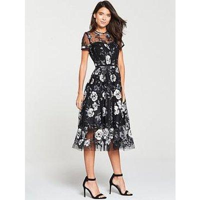 V By Very Lace Prom Dress - Mono