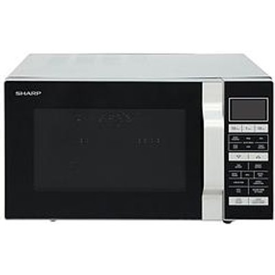 Sharp R860Slm 25-Litre, 900W Flat Tray Combi Microwave - Silver