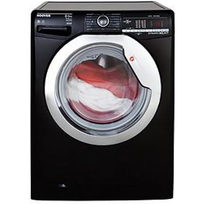 Hoover Dynamic Next Wdxoa485Acb 8Kg Wash, 5Kg Dry, 1400 Spin Washer Dryer With One Touch - Black/Chrome