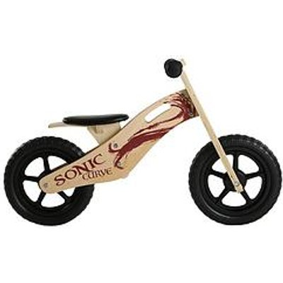 Sonic Sonic Curve Unisex Wooden Balance Bike - 10-Inch
