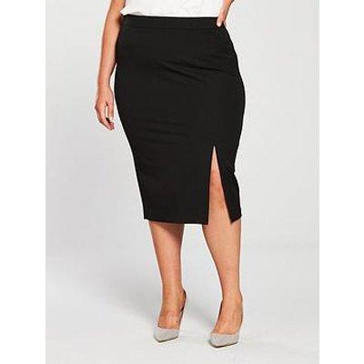 V By Very Curve Body Sculpt Pencil Skirt - Black