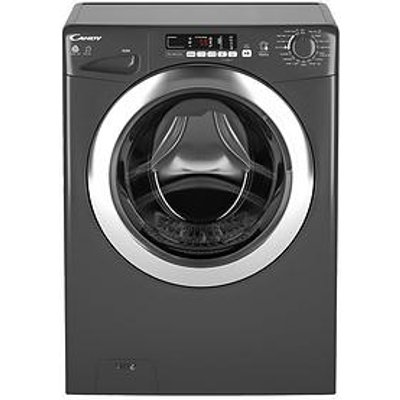 Candy Gvsw485Dcr 8Kg Wash, 5Kg Dry, 1400 Spin Washer Dryer With Smart Touch - Graphite