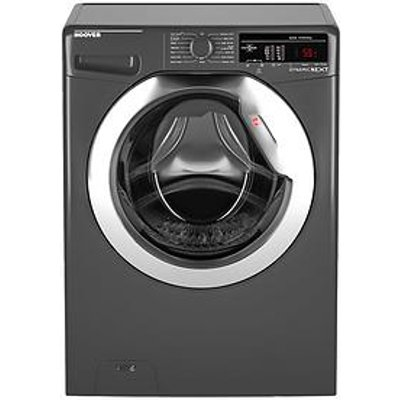 Hoover Dynamic Next Dxoa48C3R 8Kg Load, 1400 Spin Washing Machine With One Touch - Graphite/Chrome
