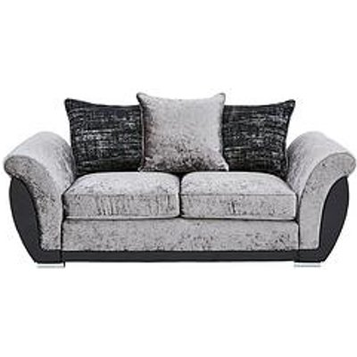 Alexa Fabric And Faux Leather 2 Seater Scatter Back Sofa
