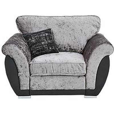 Alexa Fabric And Faux Leather Armchair