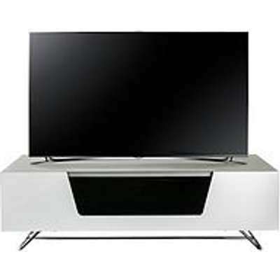 Alphason Chromium 120 Cm Tv Unit - White - Fits Up To 55 Inch Tv
