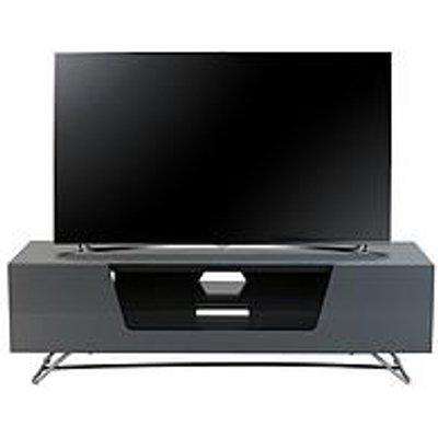 Alphason Chromium 120 Cm Tv Unit - Grey - Fits Up To 55 Inch Tv