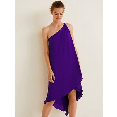 Mango Amilia Asymmetric One Shoulder Dress - Purple