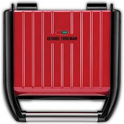 George Foreman Medium Red Steel Grill - 25040