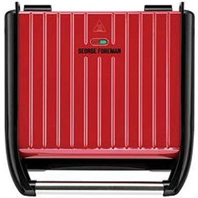 George Foreman Large Red Steel Grill - 25050